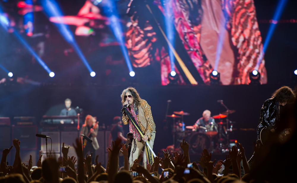 Vilnius,,Lithuania,-,May,21:,American,Rock,Band,Aerosmith,Performs